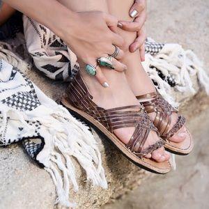 Bed Stu Avery hurrache leather woven sandal.
